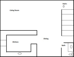 Vista Townhouse For Rent Floor Plan 1