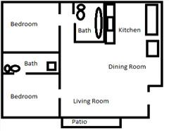 2 bedroom 2 bath apartment vista ca